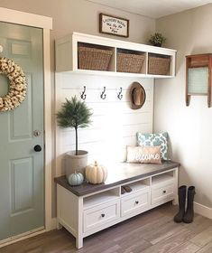 "6,986 Likes, 52 Comments - DECORSTEALS.COM (@decorsteals) on Instagram: ""Oh man do we wish we had a mud room like this one by @bloomingdiyer this looks like the perfect…"""