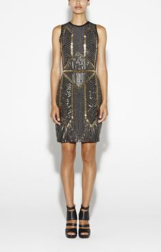 Cassie Armor Beaded Dress - Dresses