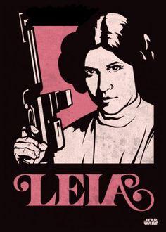 princess leia organa rebel leader blaster poster star wars lucas