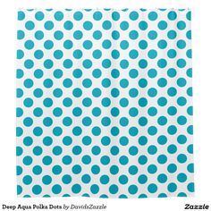 Deep Aqua Polka Dots Shower Curtain Available on many products! Hit the 'available on' tab near the product description to see them all! Thanks for looking!  @zazzle #art #polka #dots #shop #home #decor #bathroom #bedroom #bath #bed #duvet #cover #shower #curtain #pillow #case #apartment #decorate #accessory #accessories #fashion #style #women #men #shopping #buy #sale #gift #idea #fun #sweet #cool #neat #modern #chic #blue #aqua #light #dark #white