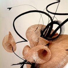 Asteria - Sinamay lily curled quill fascinator