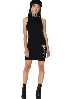 78400179653 Poster Grl Legendary Embroidered Bodycon Dress cuz ur slayage is endless