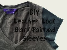 Sincerely, Sara: DIY: Leather-Look Black Painted Sleeves & Inspiration