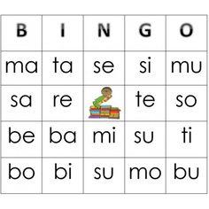 Bingo des syllabes simples