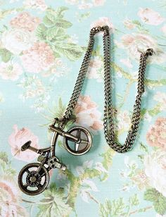 Bicycle Necklace Vintage Style Necklace