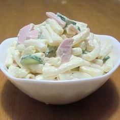「基本のマカロニサラダ」きゅうりとハムは定番でしょうか。あとはお好みの具材で。【楽天レシピ】