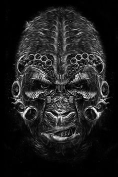 Really digging this guy! FANTASMAGORIK® GORILLA by obery nicolas, via Behance