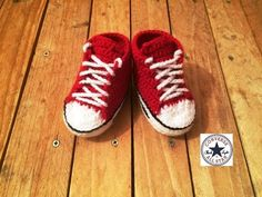 Tuto crochet: Converse chaussures bébé 2 / zapatitos all stars crochet 2 - YouTube
