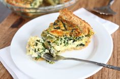Asparagus, Spinach, & Feta Quiche- 20 recipes for a Easter or weekned brunch