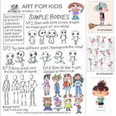 Here's another free art lesson from Art For Kids, Simple Bodies.keeping the creative ones busy in lockdown :)