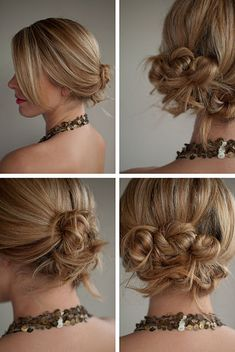 Twist + Pin Messy Twisted Updo - Tutorial