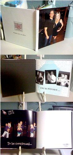 """a photobook called """"Our Love Story"""" telling about how we met and all the cool things we did over the year that I gave my boyfriend for Valentines day..it says """"Volume 1"""" this year, so next year will be """"Volume 2"""" and so on..."""