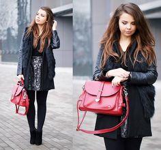 Sheinside Coat, Sheinside Vest, Lovelyshoes Bag