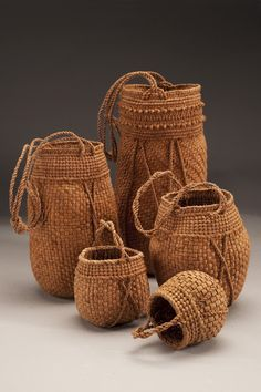 Black Willow Bark Baskets by Jennifer Zurick
