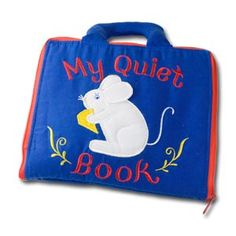 Quiet Book--I like the zipper around the outside and the handle