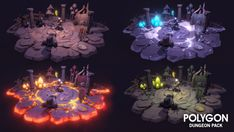 Synty Studios Presents - An Epic Low Poly asset pack of characters, props, weapons and environment assets to create a Fantasy themed polygonal style game. Modular sections are easy to piece together in a variety of combinations. Includes a big demo scene (Character poses indicative only) 770 unique assets with x4 alternative texture colours. Some examples include: - Modular Interior castle Set - Modular Interior cave Set - Modular Goblin Camp Set - Modular Basement Set - Modular Sewer ...