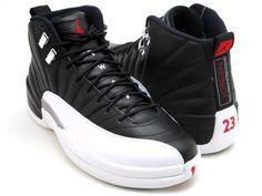 NIKE AIR JORDAN 12 RETRO BLACK/VARSITY RED-WHITE sneaker
