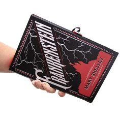 Frankenstein Book Clutch