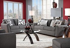 Got this set put in 8/20/2012! couches are a darker grey up close, but still look fab! Comfy too....