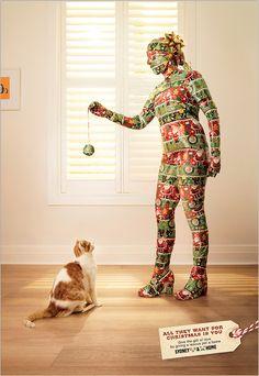 En Australie, une association révèle une campagne print touchante pour inciter à l'adoption de chiens et de chats à Noël.