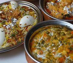 Hyderabadi Biryani, an Indian meat and rice dish. - http://upload.wikimedia.org/wikipedia/commons/4/48/India_food.jpg