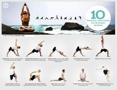 Are you an athlete trying to integrate yoga into your training? Here's a visual guide to ten essential poses for strength athletes.