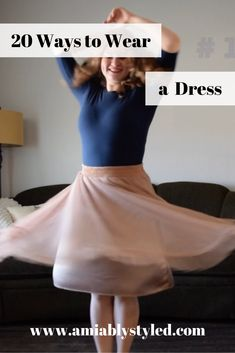 20 Dress Outfit Ideas (in honor of Dressember) - Amiably Styled How to wear and style a dress 20 ways. Perfect for a capsule wardrobe! Dresses are so easy to dress up or down or to wear to work! Work Wardrobe, Capsule Wardrobe, Dress Outfits, Fashion Outfits, Fashion Tips, Sweater Outfits, Preppy Style, Edgy Style, Classy Style