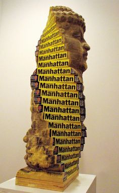 Recycled book sculpture by long-bin chen