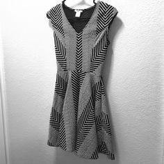 Black and white chevron dress Black and white chevron dress Bar III Dresses Mini