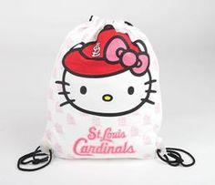 Hello Kitty Drawstring Bag: St Louis Cardinals