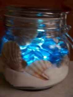 """Great way for Californian to take the """"ocean"""" with them to midwest school. (solar light)"""
