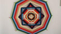 Mandala em Fios- Integração água e Fogo | Mandalas Portal Vialuz | Elo7