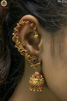 Deep Blue Sea Talons gauged ear plugs earrings talons for stretched piercings Made to Order - Custom Jewelry Ideas Gold Jhumka Earrings, Jewelry Design Earrings, Gold Earrings Designs, Designer Earrings, Crystal Earrings, Crystal Jewelry, Gold Designs, Antique Earrings, Antique Jewellery