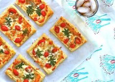 Caprese Tarts   recipris (similar to TJ's puff pastry margherita pizza)