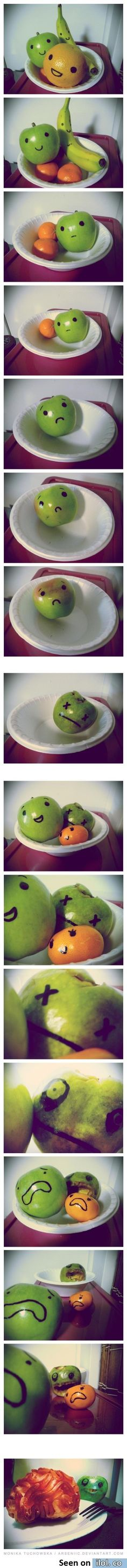 A Fruit Story. Lol funny, made me laugh the first time I saw it (: Funny Shit, Funny Pins, Haha Funny, Funny Cute, Funny Memes, Hilarious, Jokes, Funny Stuff, Doug Funnie