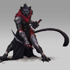 Tabaxi assassin - Warriors, Mages & co - Fantastical Creatures High Fantasy, Fantasy Races, Fantasy Rpg, Fantasy Artwork, Fantasy Character Design, Character Design Inspiration, Character Concept, Character Art, Dungeons And Dragons Characters