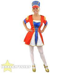 LADIES TOY SOLDIER MAJORETTE FANCY DRESS COSTUME & HAT NUTCRACKER CHRISTMAS XMAS Xmas Fancy Dress, Ladies Fancy Dress, Adult Fancy Dress, Costume Hats, Cool Costumes, Costumes For Women, Female Costumes, Nutcracker Christmas, Christmas Costumes