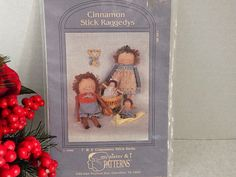 Cinnamon Stick Raggedy Dolls Uncut Sewing Craft Pattern VTG 1990 My Sister &…
