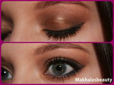 Deep golden eye look