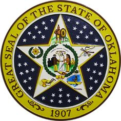 MilitaryPlaques.com 's plaque for the state seal of Oklahoma Picasso, Oklahoma Tattoo, Oklahoma State Flag, American State Flags, Hand Carved, Hand Painted, Hope For The Future, Confederate Flag, Indian Heritage