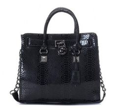 Michael Kors Pyramid Stud Embossed Large Black Totes [mk_0280]