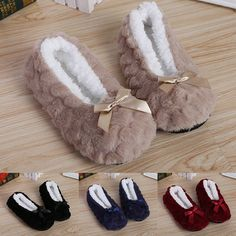 75286371c15 Women Solid Shoes Plush Indoor Non-slip Slippers Warm Plush Home Winter  Slippers  fashion
