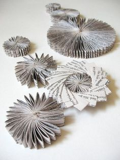 Paper Cog Wall Sculpture - Wall Appliques Paper Star Constellation Neutral Home Decor Grey Modern Art Installation - Recycled Book Paper Art - DIY and Crafts 2019 Folded Book Art, Book Folding, Paper Book, Recycled Books, Recycled Art, Book Sculpture, Wall Sculptures, Kirigami, Diy Paper