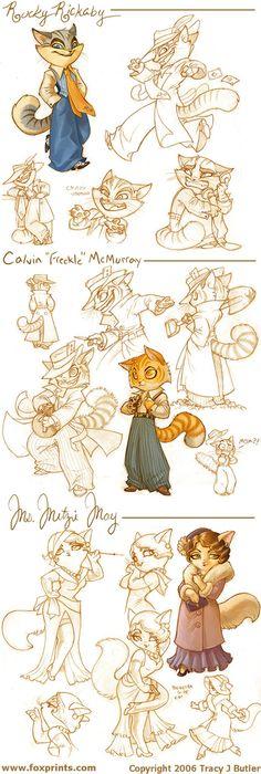 Lackadaisy Cats by tracyjb