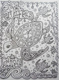 Sea TuRtLEs Coloring Book You be the ARTIST Fun by ChubbyMermaid, $12.00