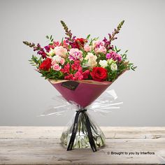 Valentines Raspberry Romance Handtied: Booker Flowers and Gifts Romantic Flowers, Beautiful Flowers, I Love You Balloons, Pink Rose Bouquet, Rose Gift, Valentines Flowers, Same Day Flower Delivery, Mini Roses, Flowers Delivered