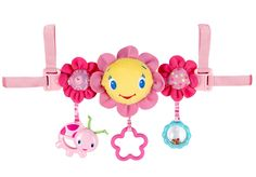 #Bright Starts Pink Carrier Toy #Bar available online at http://www.babycity.co.uk/