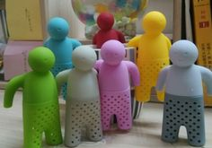 Colored Mr.Tea Infuser. Wonderful gift for friends who loves drinking tea.