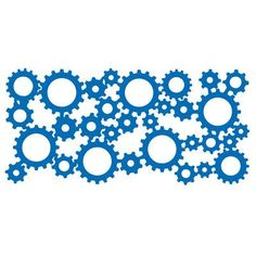 "The Decal Guru Industrial Gears Wall Decal Size: 17"" H x 36"" W x 0.01"" D, Color: Black"