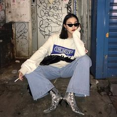 Urban baddies aesthetics and new grunge style 70s Fashion, Fashion Killa, Fashion Outfits, Fashion Trends, Fashion Glamour, Fashion Black, Ootd Fashion, London Fashion, Fashion Ideas